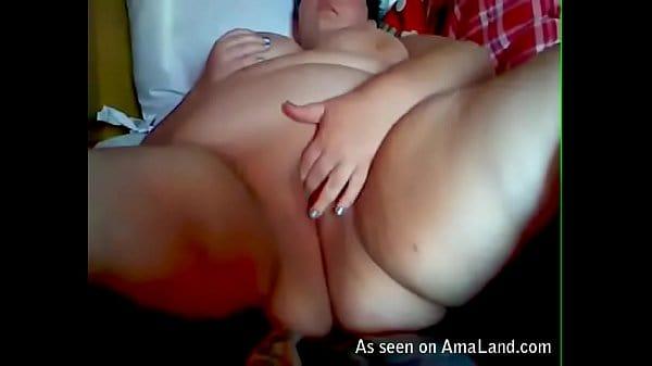 Super Fat BBW WEbcam Girl Masturbating